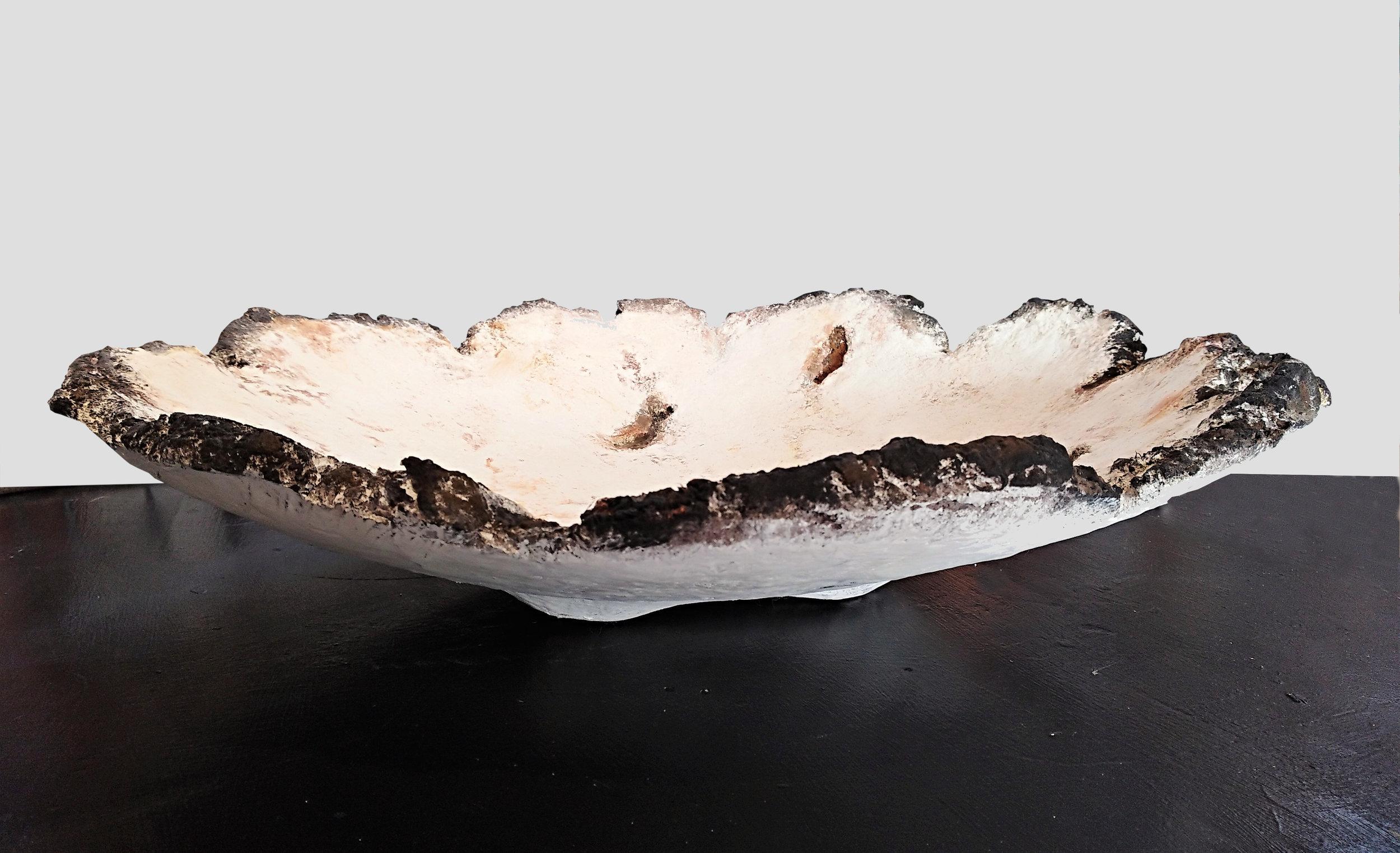 Jagged Crater Vessel  John Phillips, artis fiberclay  $350.00