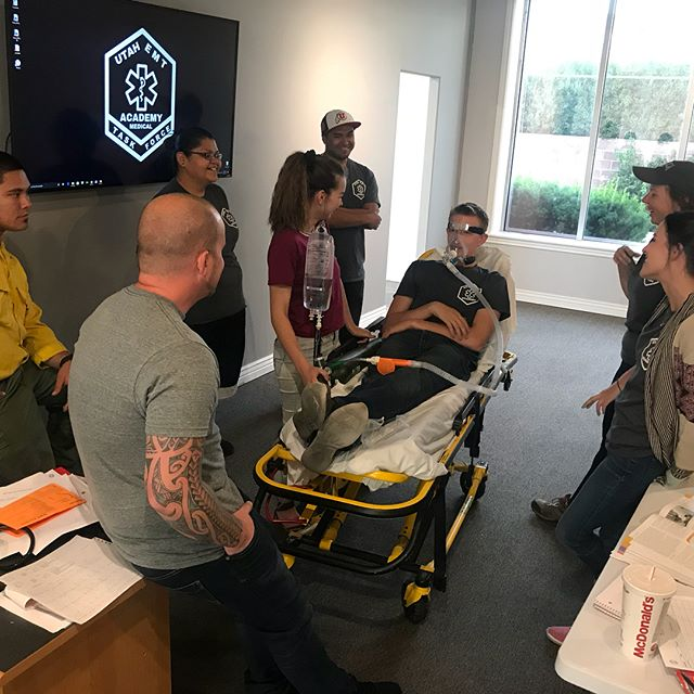 Congratulations EMT class! Everyone did a great job and passed the practical exams today. We look forward to having you back for the Advanced EMT | www.uemta.com