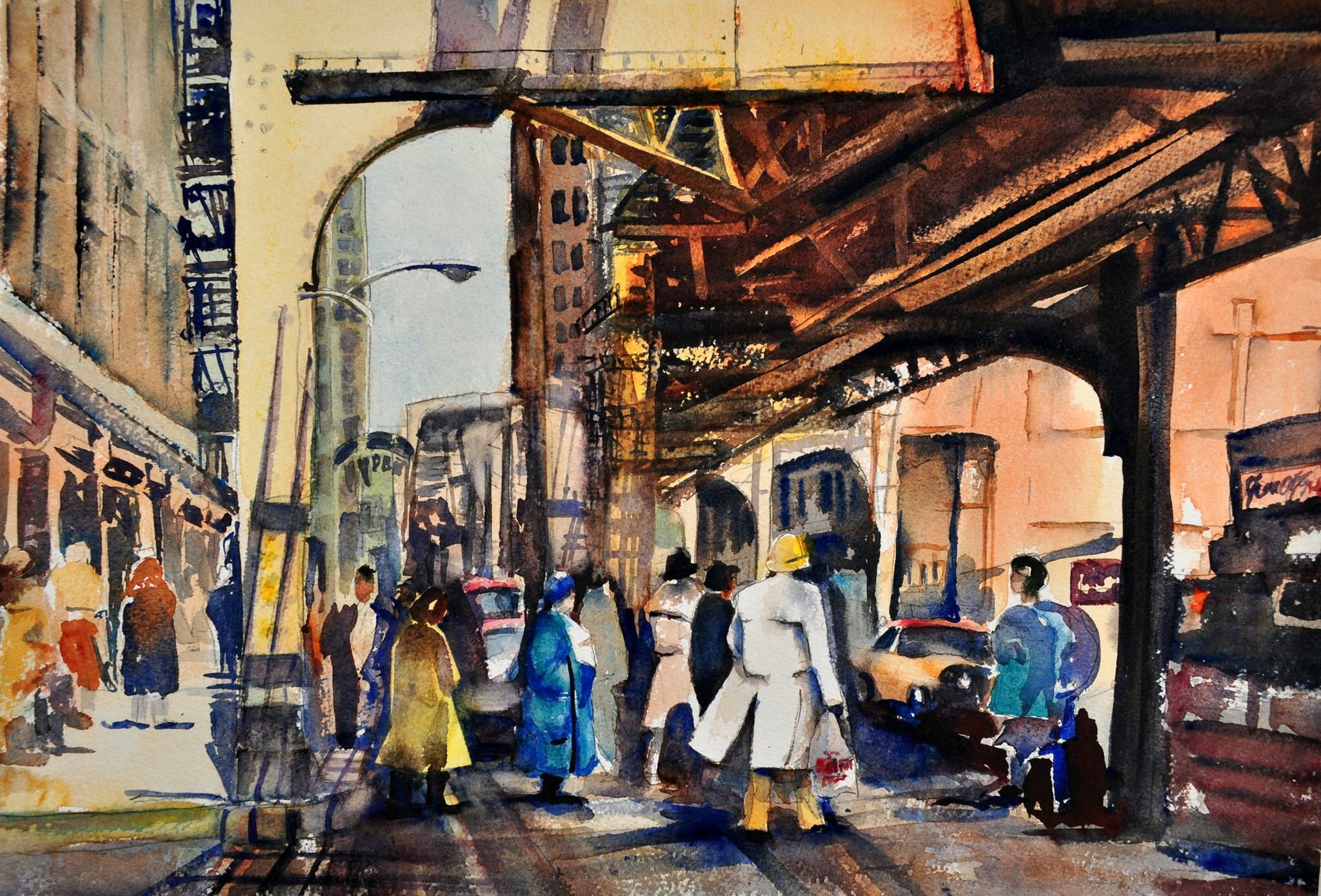 Under the El, (Elevated Train)