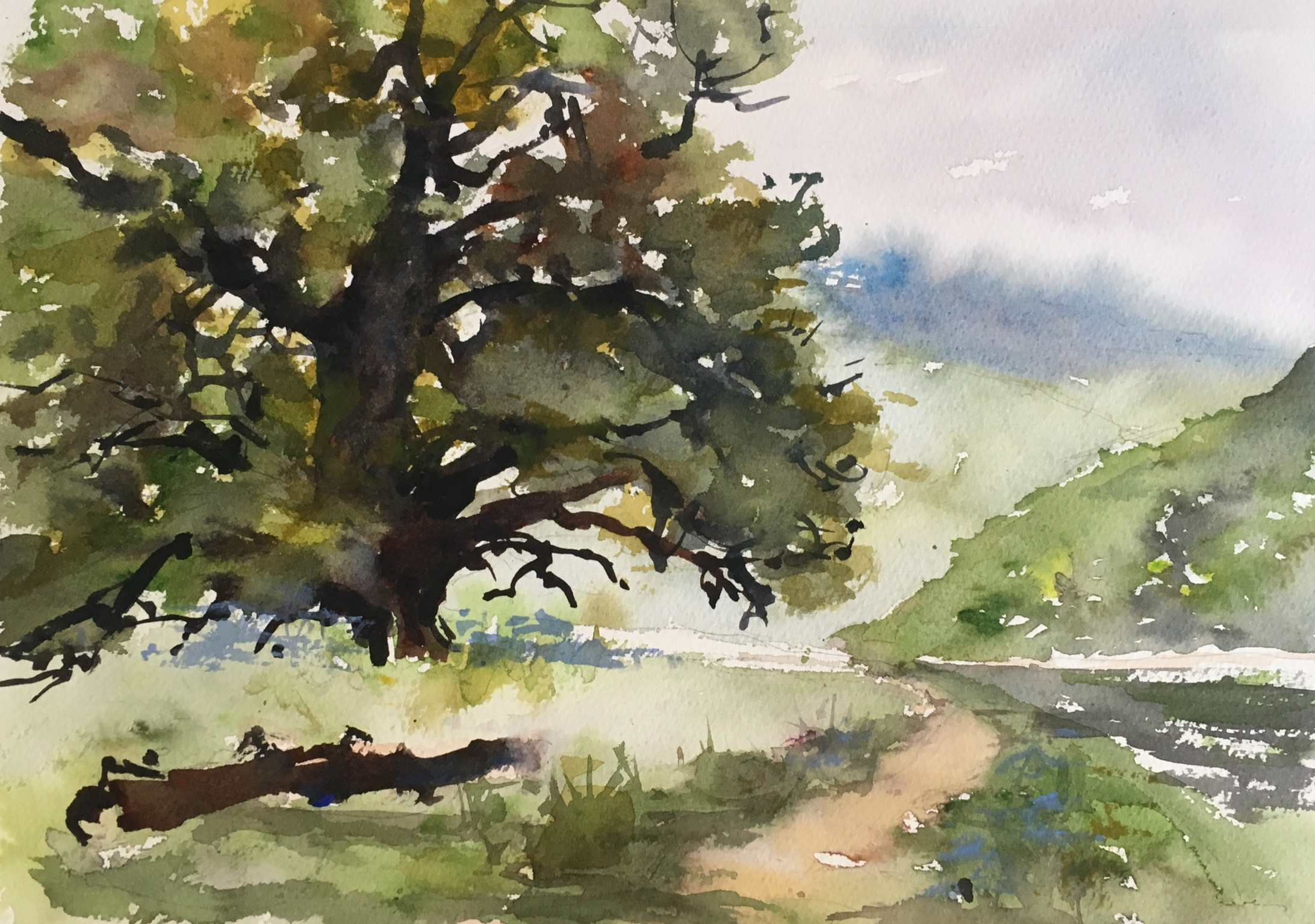 """Down by the Tweed River (15""""x11"""")"""