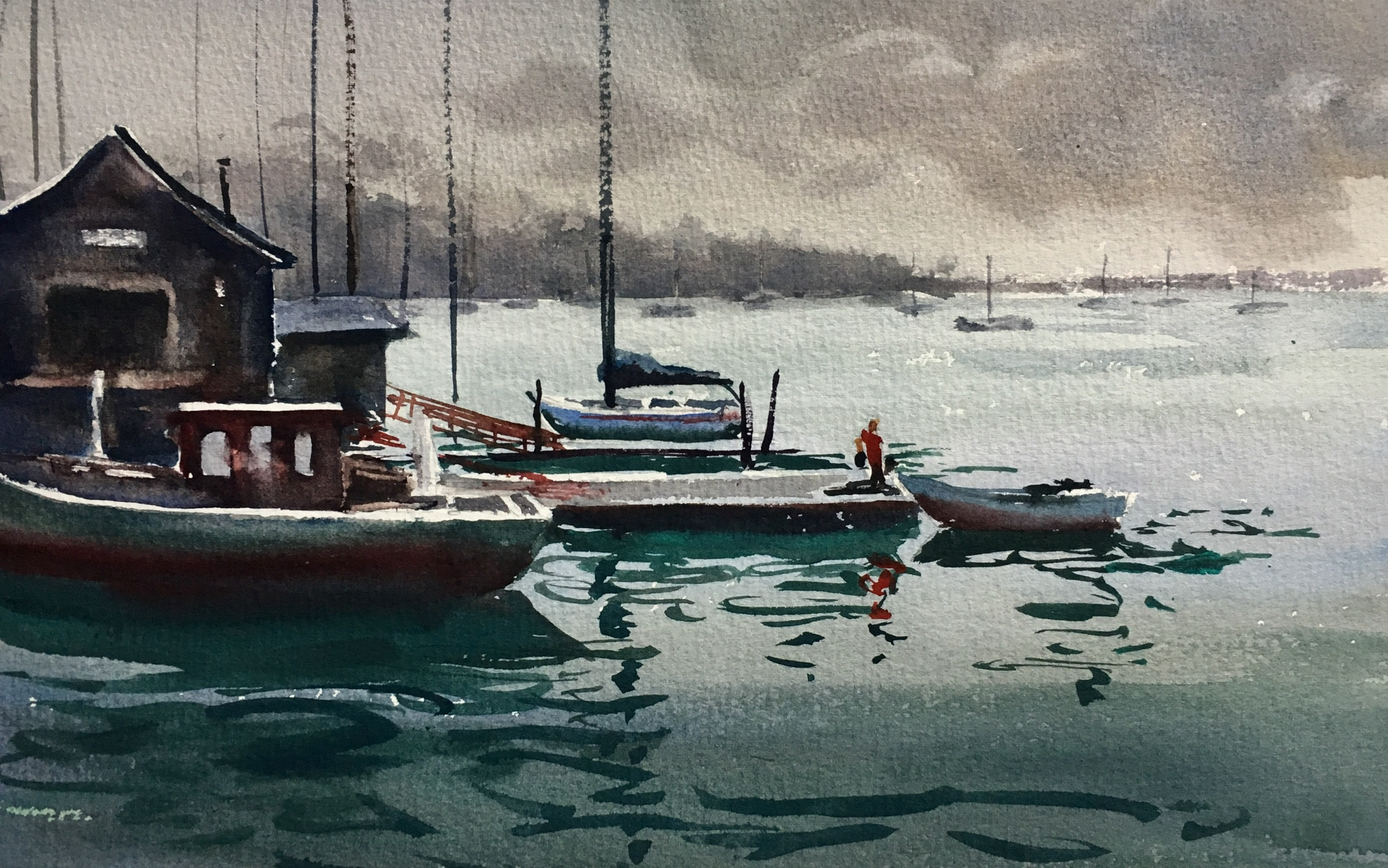 "Rockland Harbor (14""x9"")"