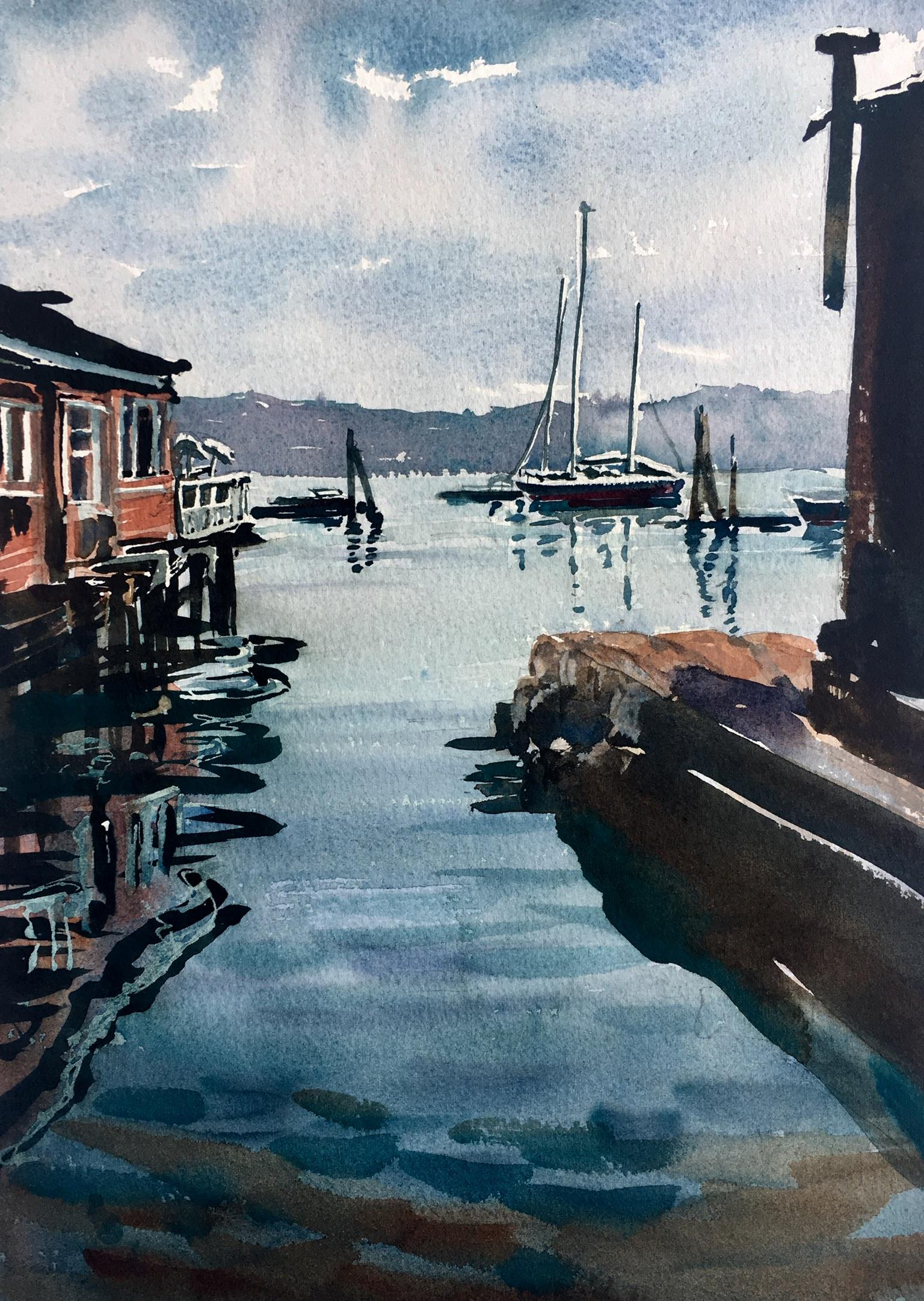 """Southwest Harbor, Maine (14""""x11"""")"""