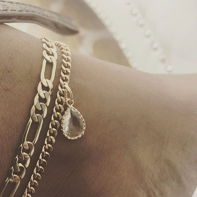 'THE ONE' x 'CRYSTAL' GOLD ANKLET✨🌻 @danceitoffchi