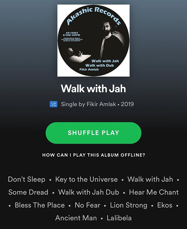 #walkwithjah NOW ➡️ @spotify and all digital streaming platforms...