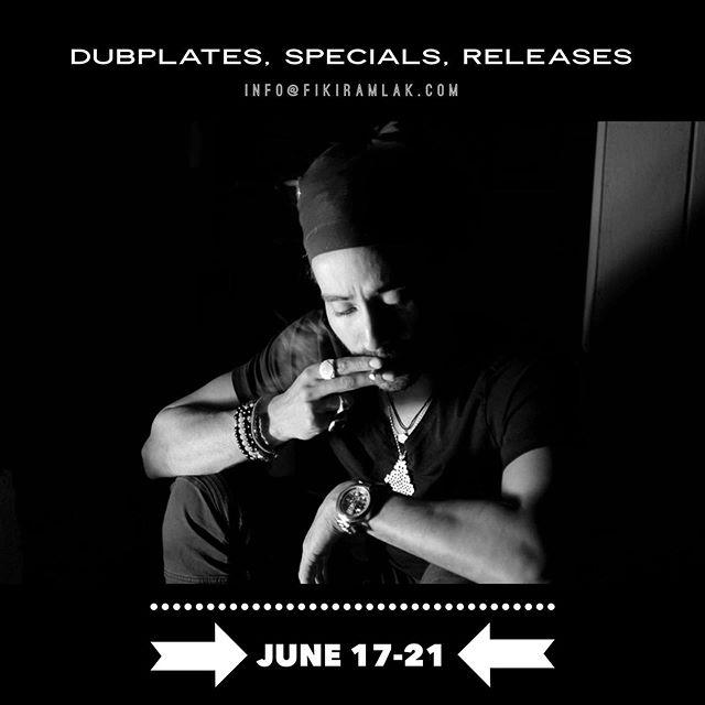#dubplates #specials #releases from June 17-21 ➡️ info@fikiramlak.com or DM . . . 📸 @joshuajune1