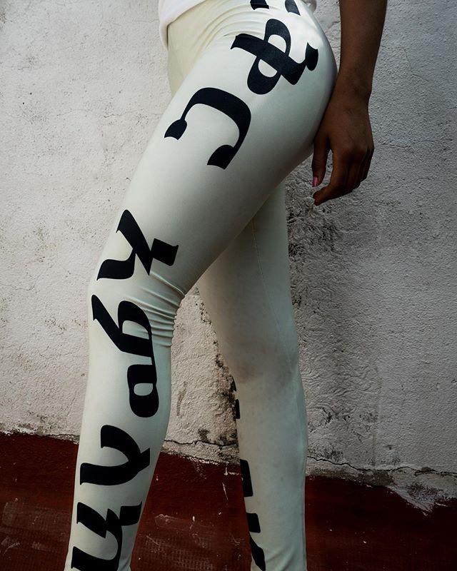 Amharic | Leggings | #fkrmlk . . . ➡️ #linkinbio 💃🏾 @__senait