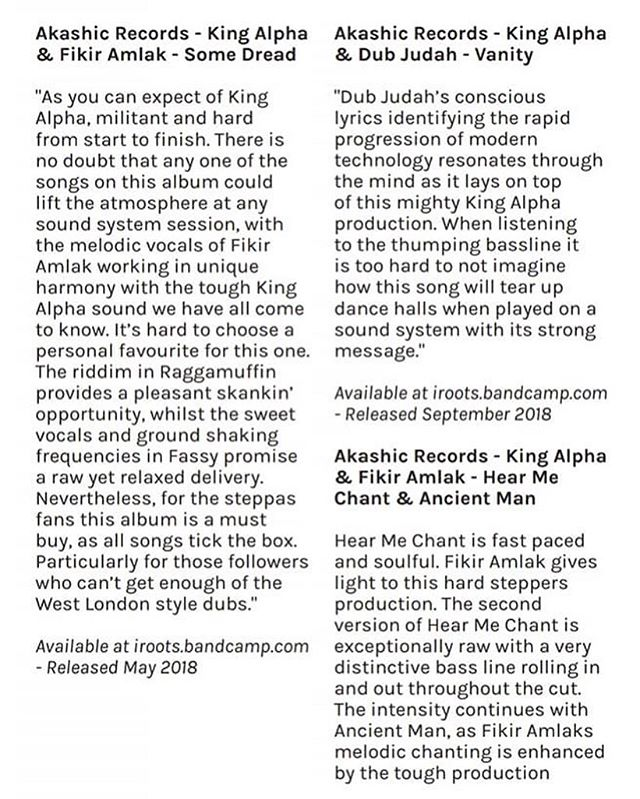 BIG UP @soundmag_uk for the review of #somedread and the #hearmechant + #ancientman vinyl release on the @akashic.records.reggae label . . . ➡️ #linkinbio