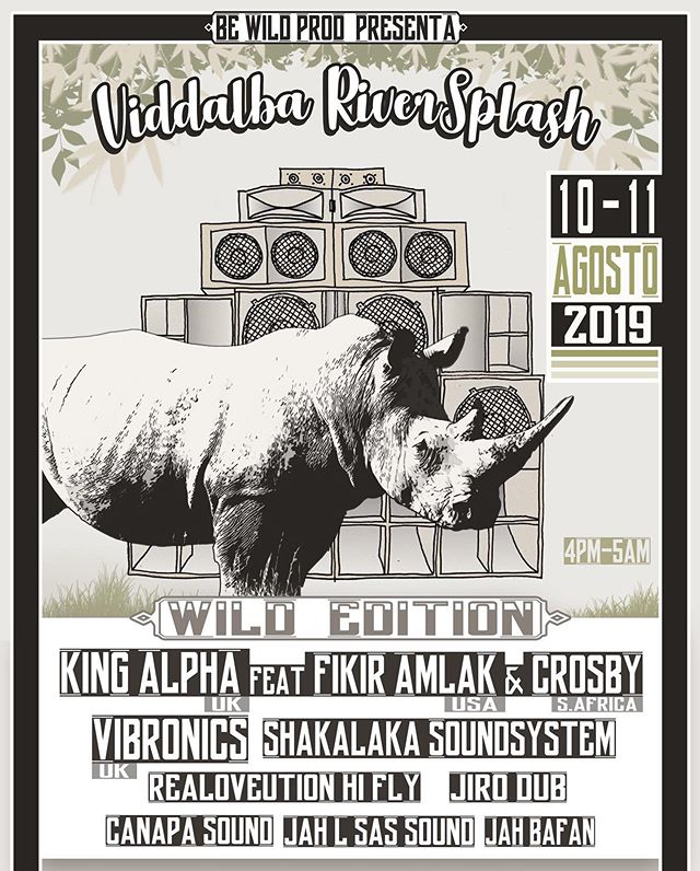 Honored to be @viddalba_riversplash in #sardinia 🇮🇹 on August 10th alongside @joseph_king_alpha @bewildproduction with @vibronicsdub and more...