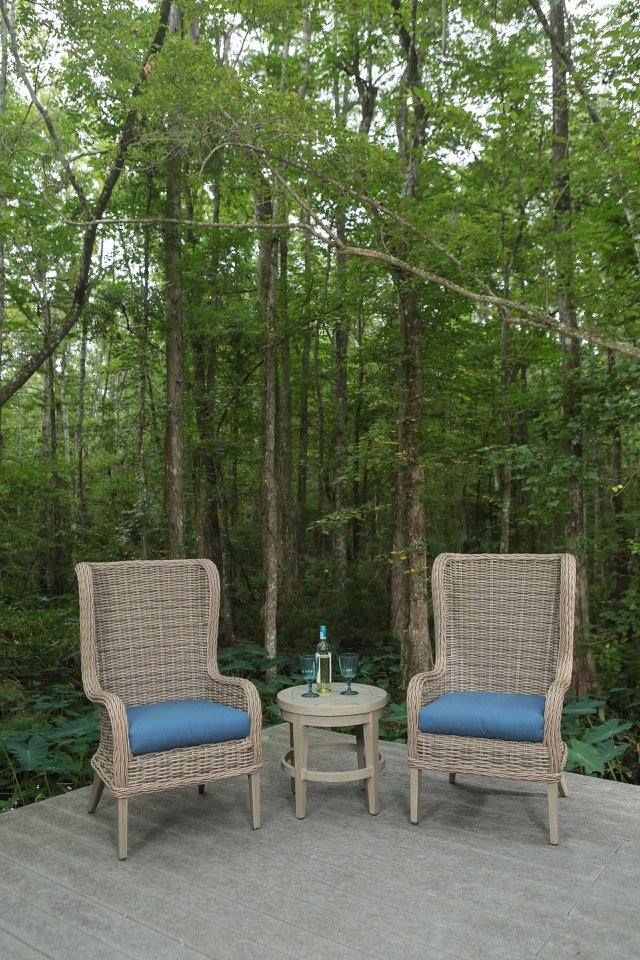 Bellevue host chairs in Driftwood with a Portofino side table.jpg