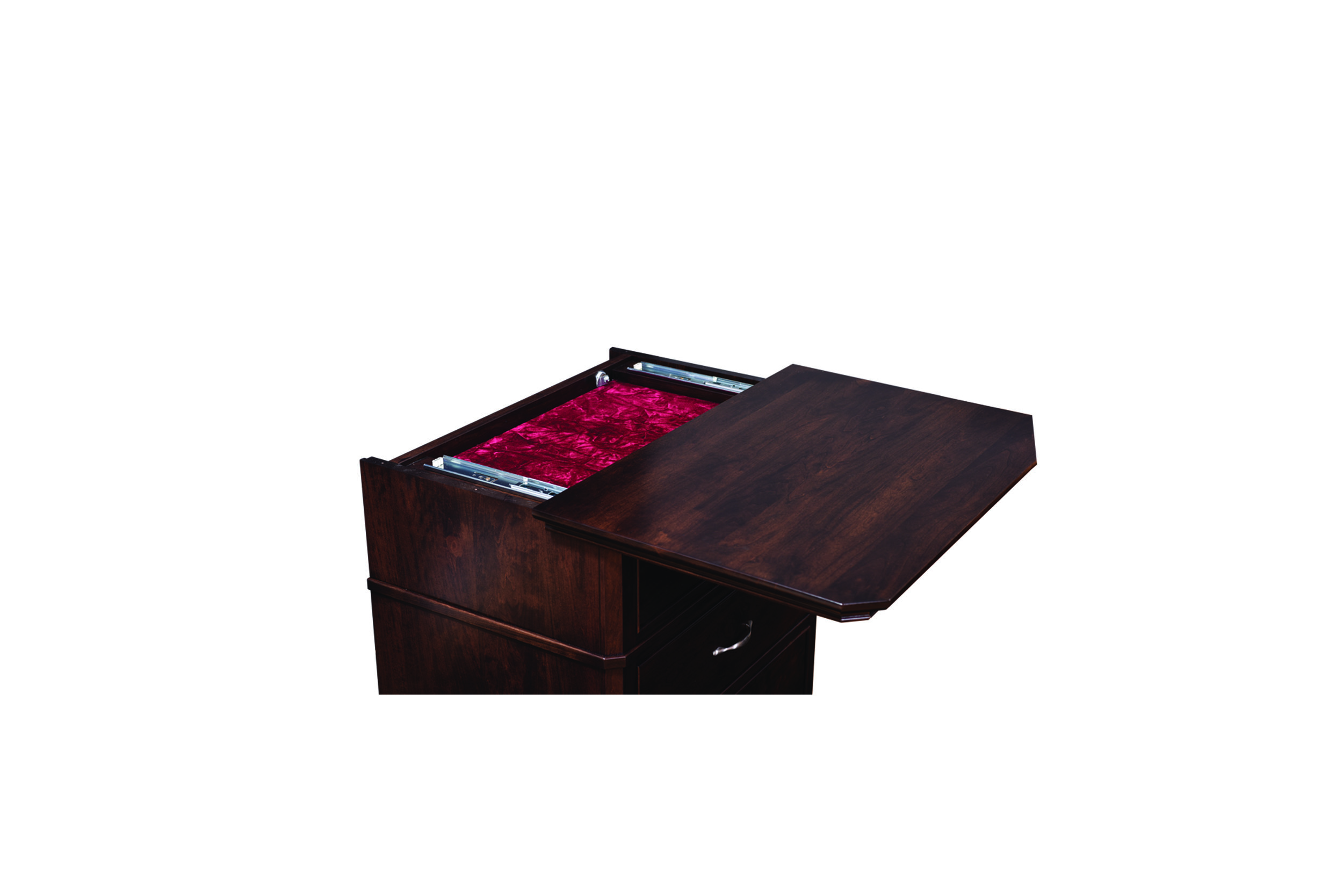 Sliding Top Detail on Night Stands