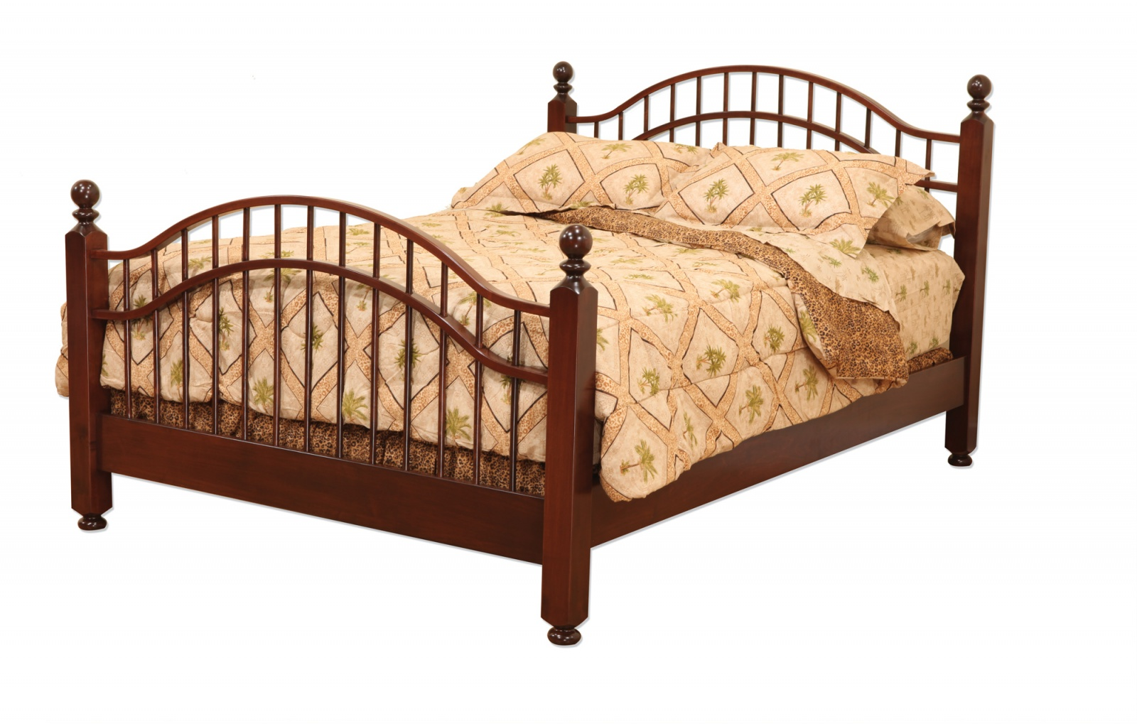 Double Bow Bed with Regular Footboard