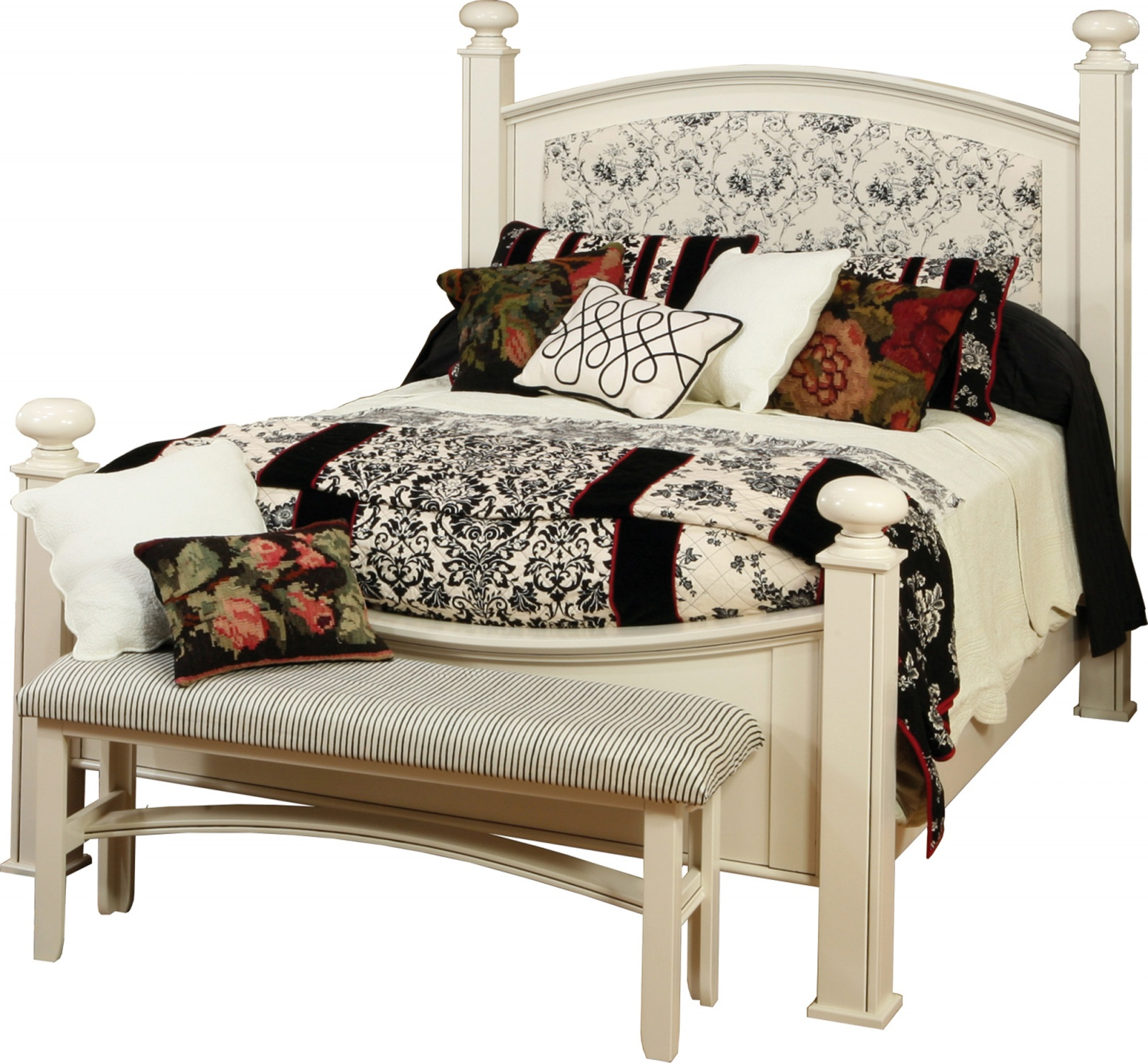 Luellen Bed with Fabric