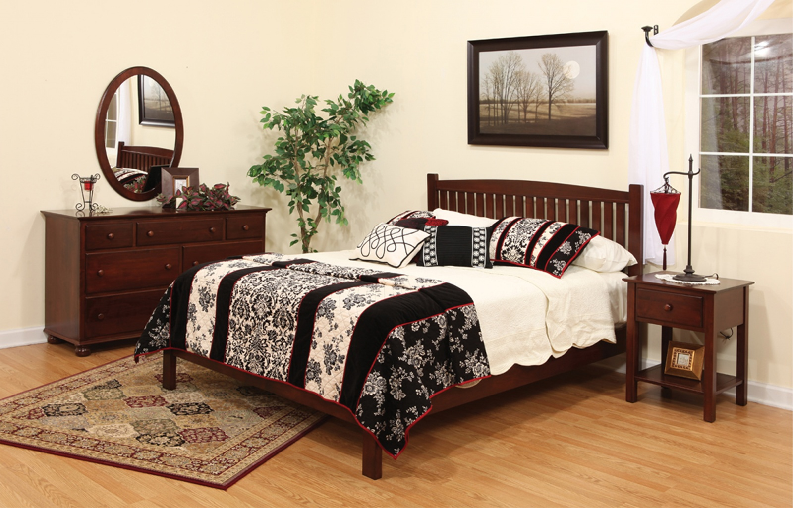 Luellen Setting with Sleepwell Bed