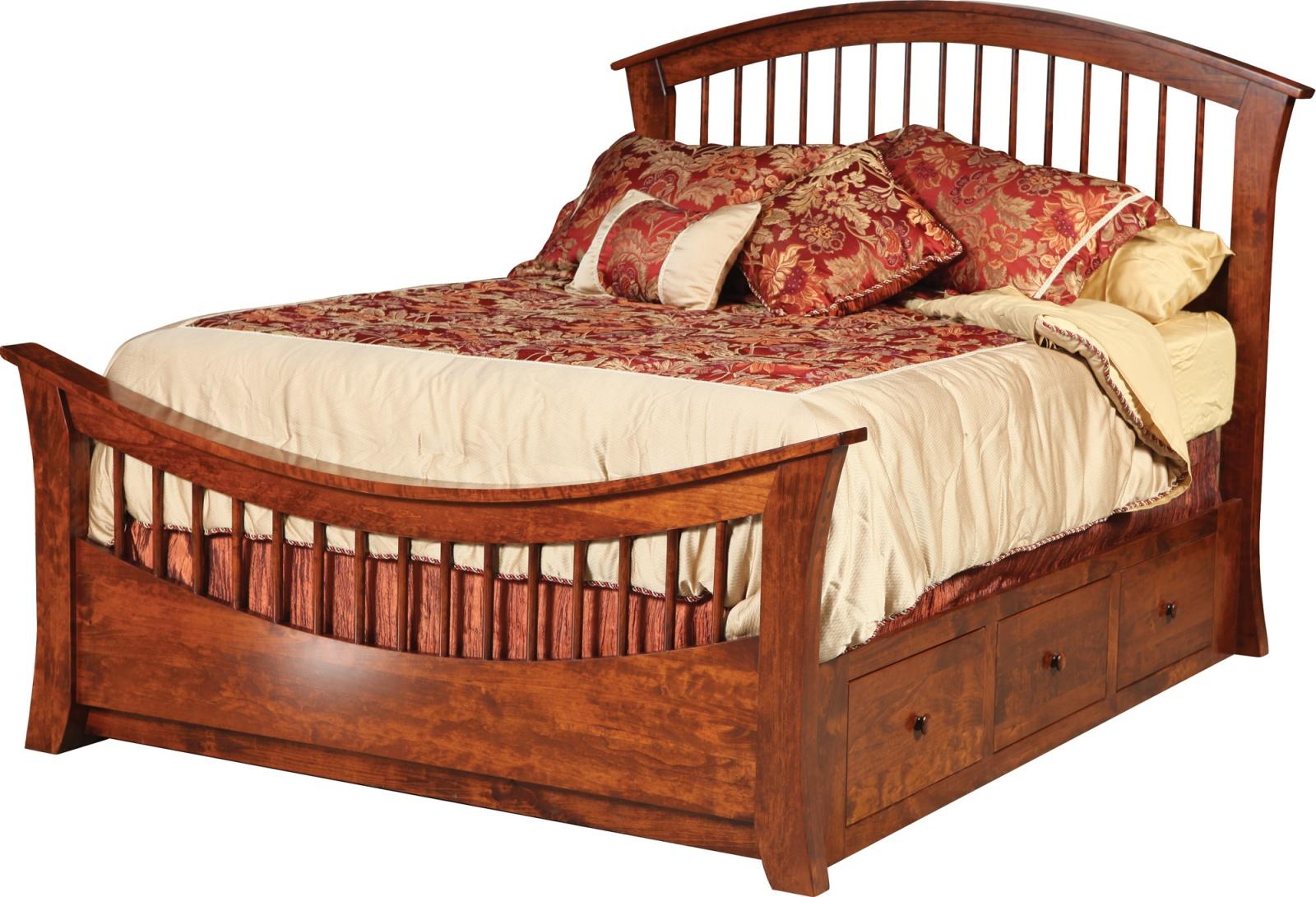 Rainbow Bed with Regular Footboard