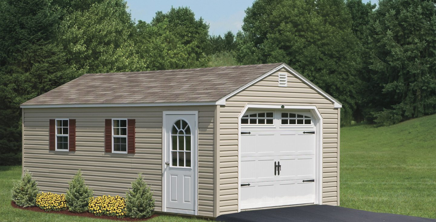 1 or 2 car garage sheds at your door!