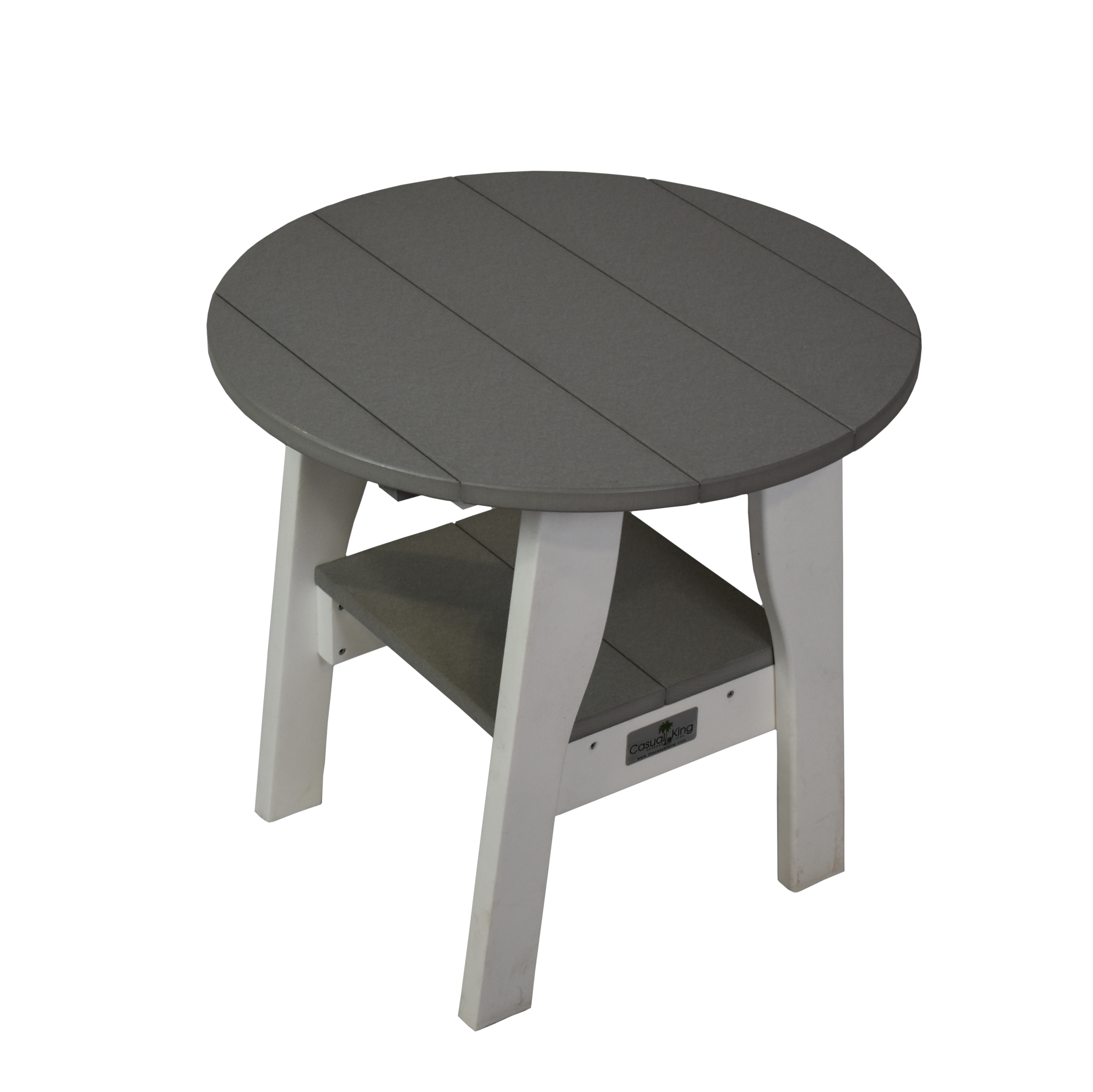 2-Tier Round Side Table (20x22)