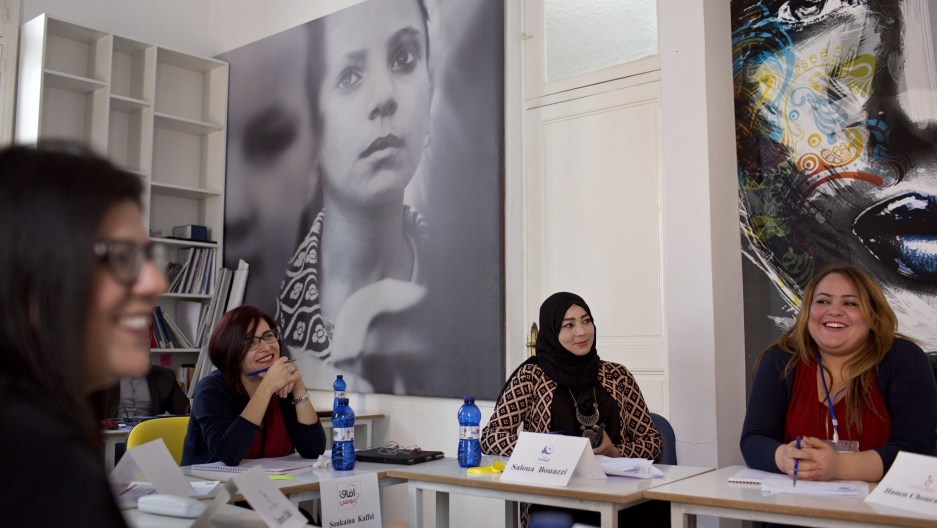 """Grassroots efforts in Tunisia to advance women's rights (PRI's The World)   """"We want our future policies [to be] informed by the diversity of women and not just represent one vision of women... We need to advocate for ourselves."""""""