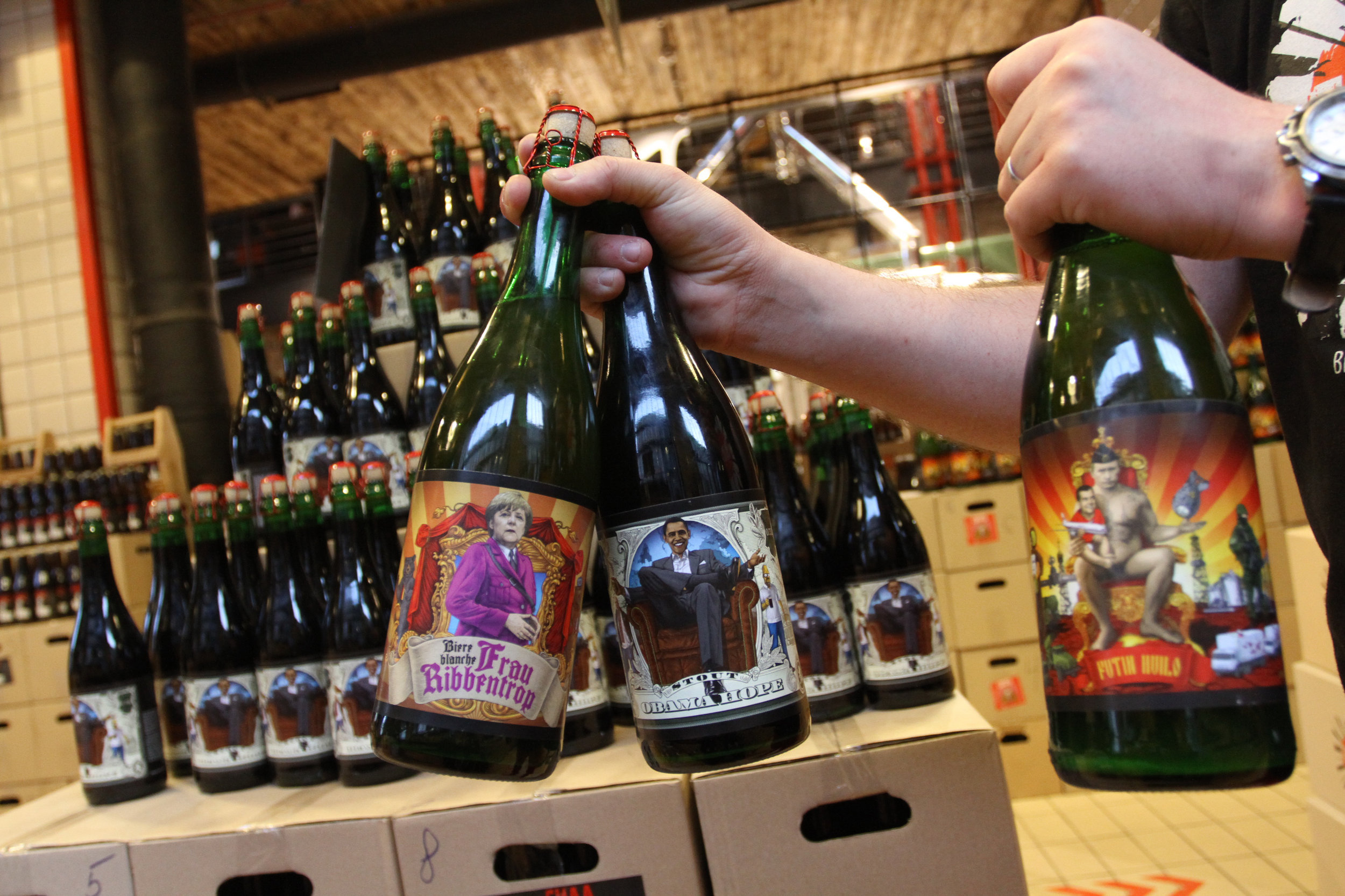 """In Ukraine, One Brewery Puts Putin, Politics on its Beer Labels (OCTOBER)   """"Because we are Ukrainian citizens, we have our own political views... This is our view and this is our beer and this is our label, so we do what we want."""""""