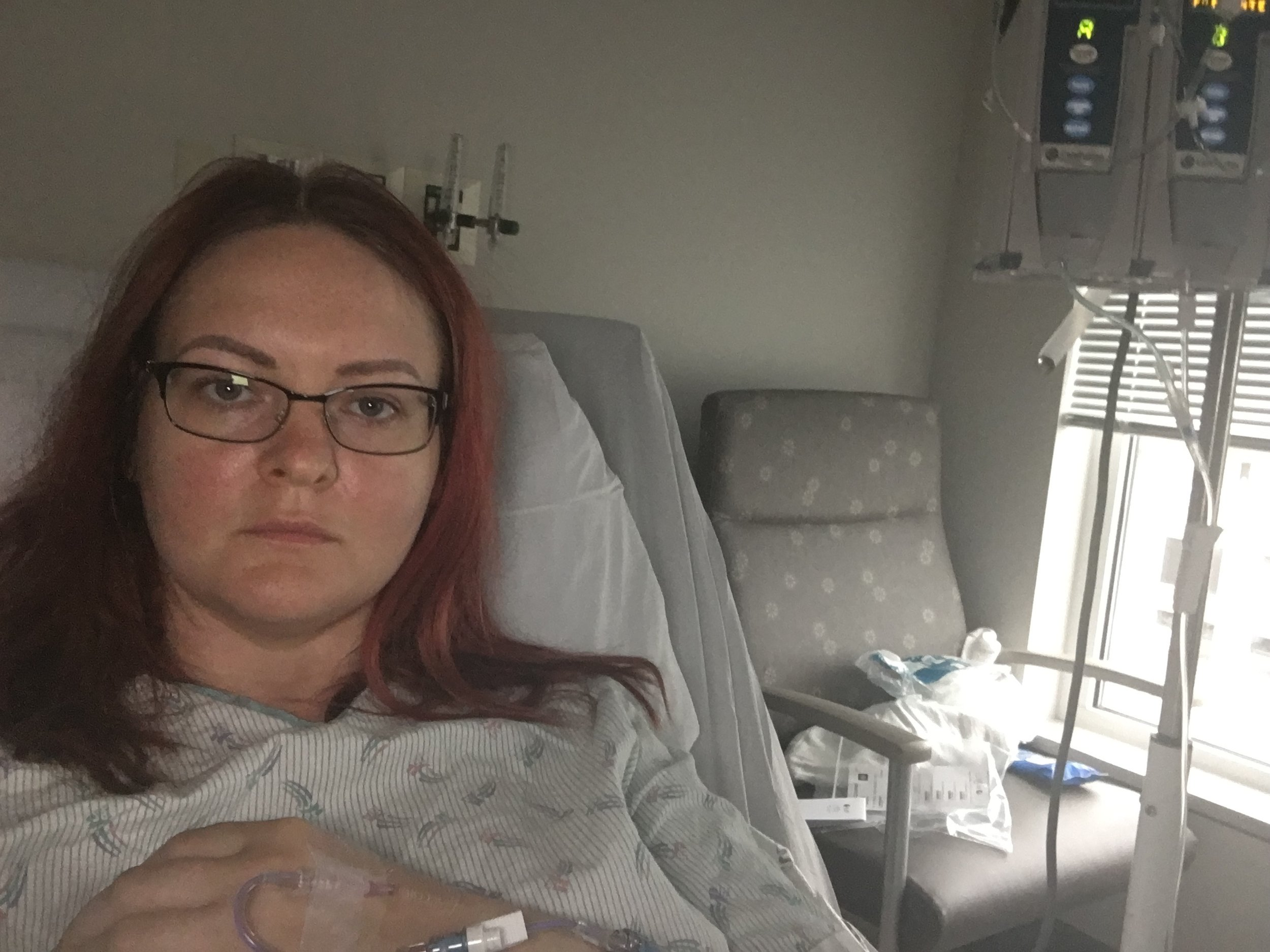 The only photo from the hospital post-op…