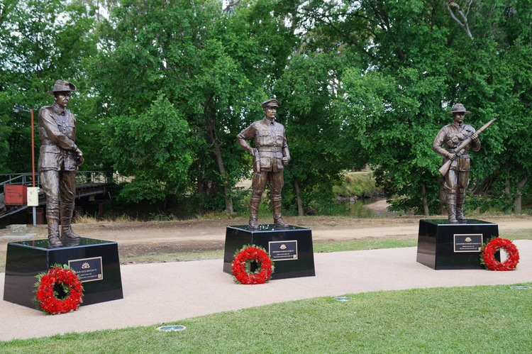 Victoria Cross Memorial Euroa - Euroa is Australia's only town with 3 VC awardees