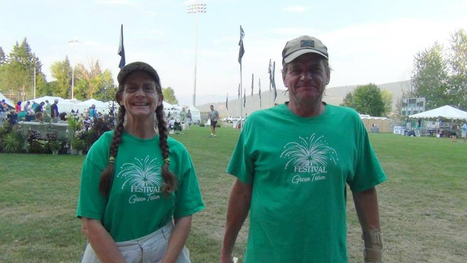 the green team - From free water dispeners to compostable utensils see how the Festival is helping to keep Sandpoint green!