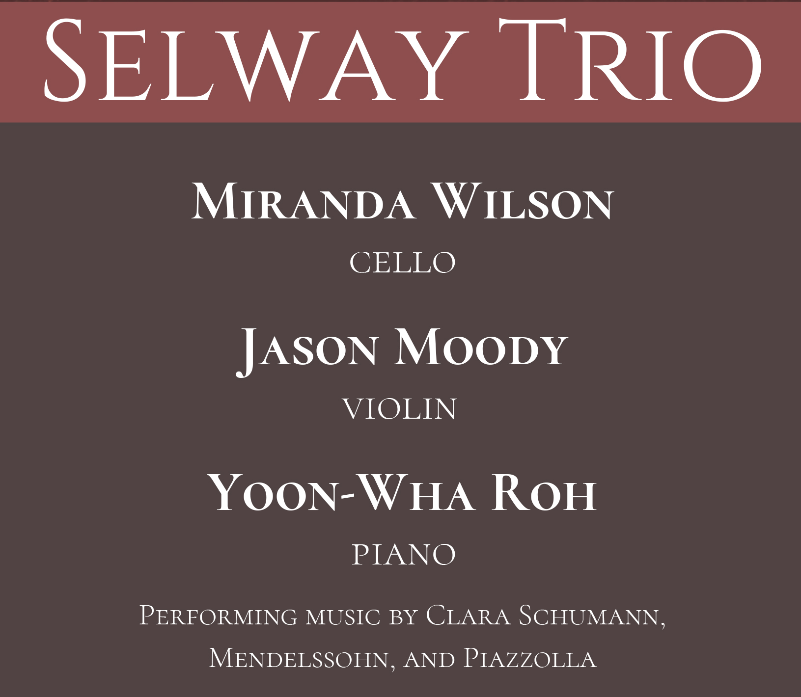 selway trio - JUNE 13TH, 2019