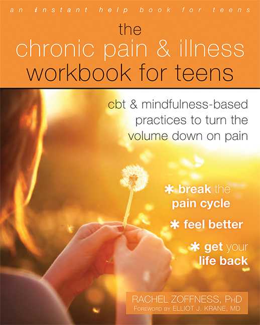 This workbook for teens coping with chronic illness is based on the latest research, and has the endorsement of some of the best pain experts in the world. - Click on the image for a link to where you can get one for yourself.