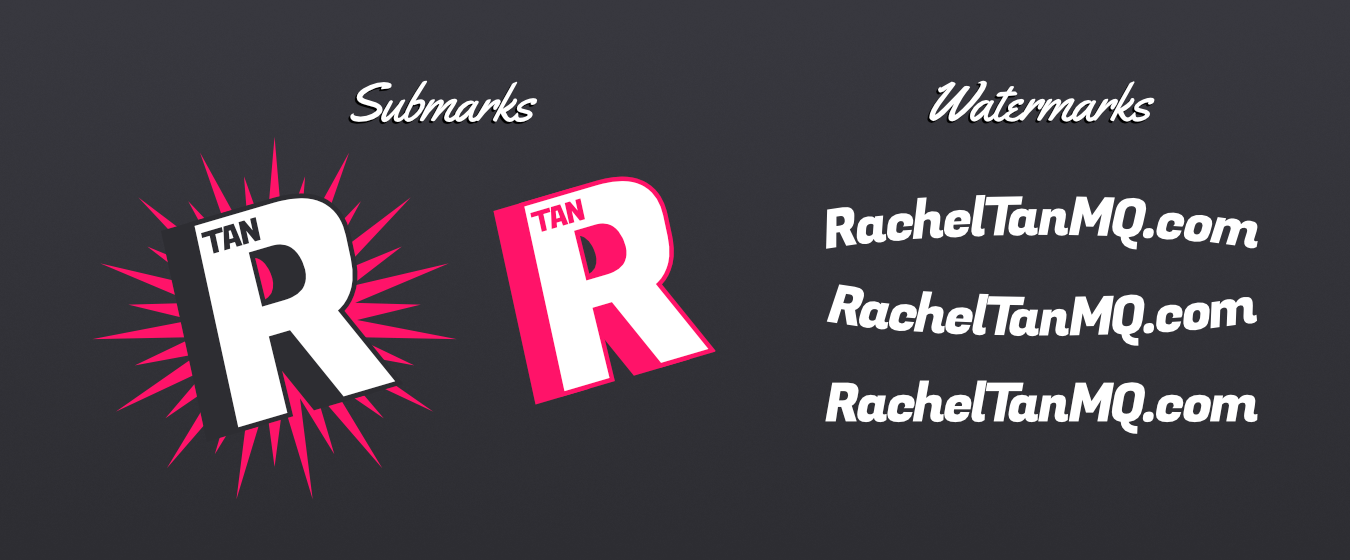 Submarks and watermarks for RachelTanMQ.com