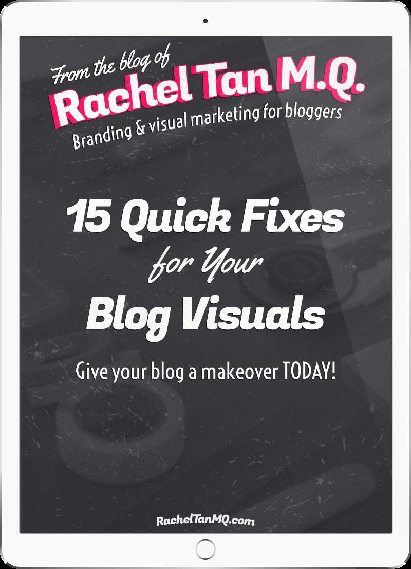 15 Quick Fixes for Your Blog Visuals ebook
