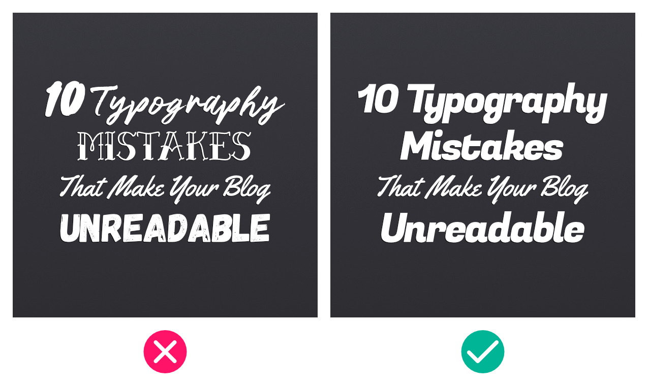 Using too many fonts