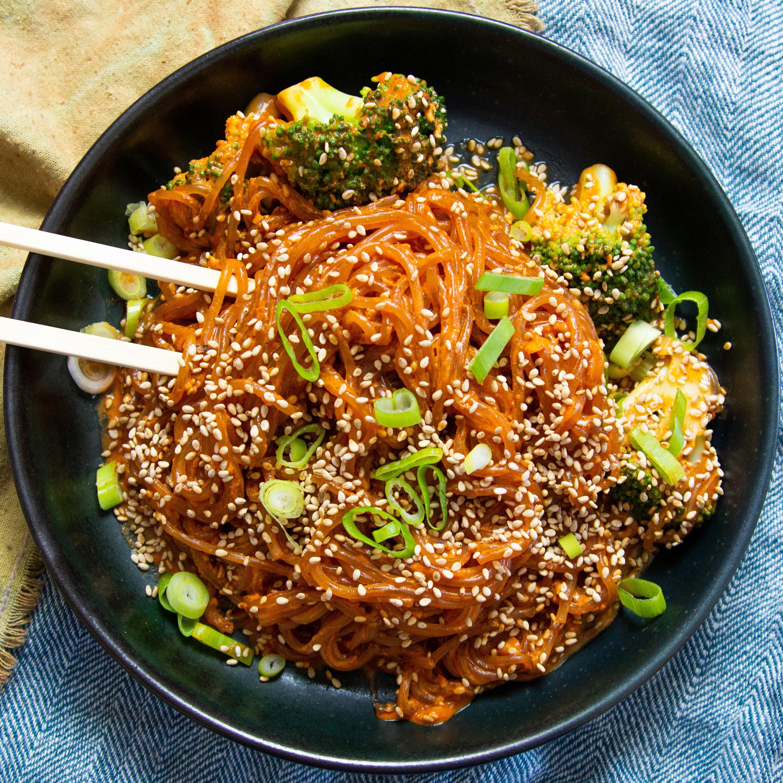 Creamy Spicy Noodles