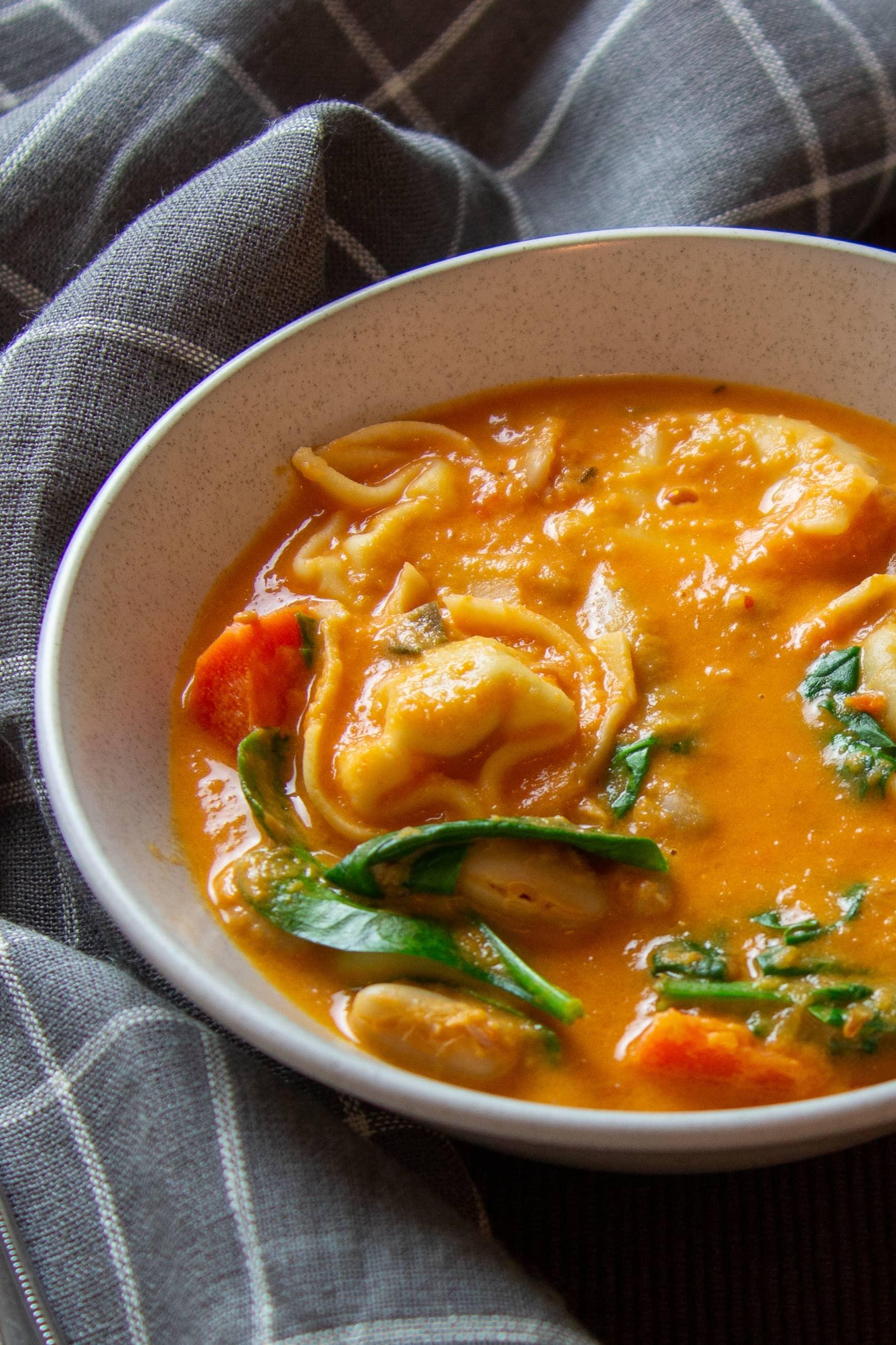 Creamy Dreamy Tomato Tortellini Soup