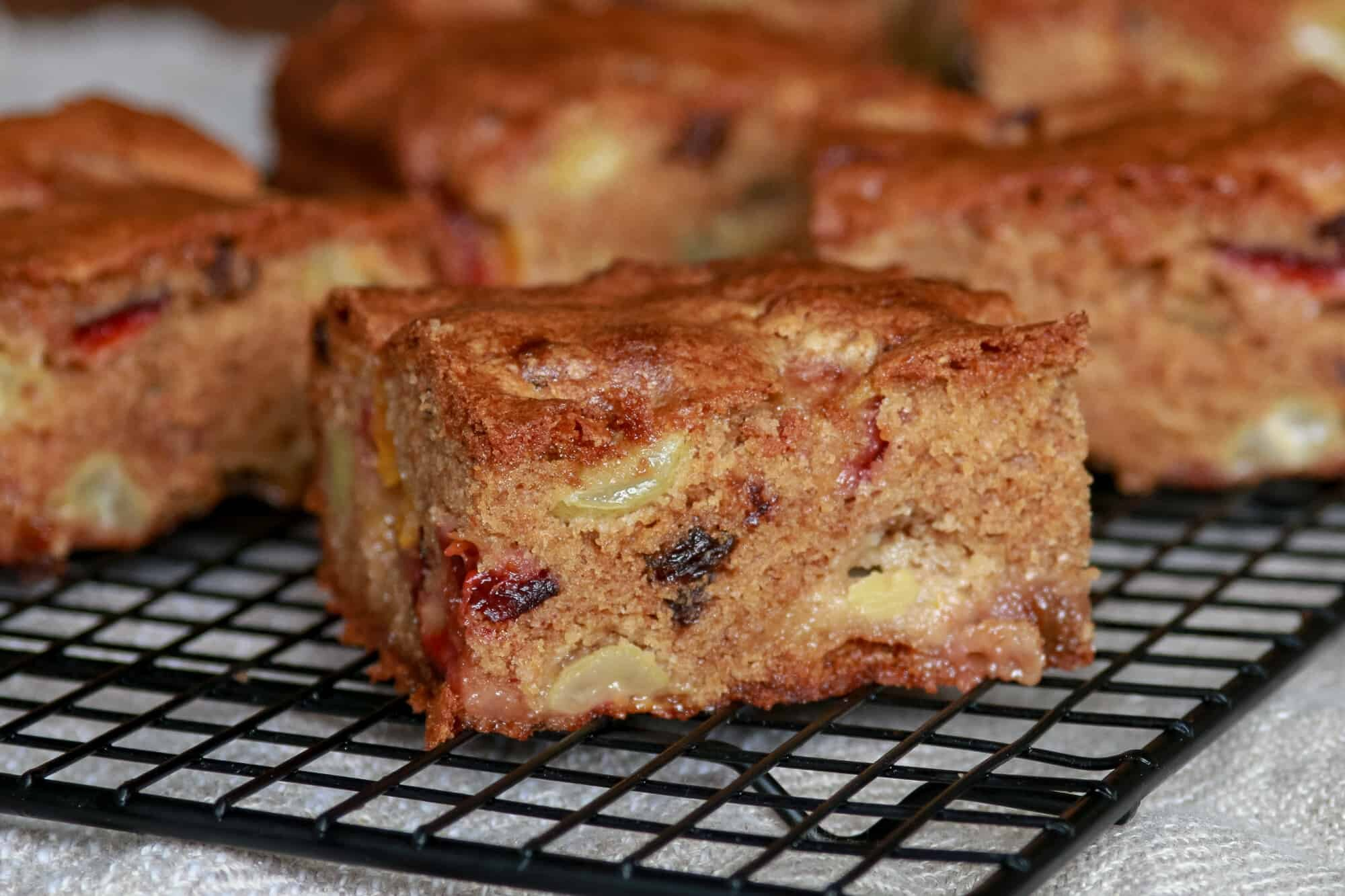 Plum Cake with Grapes And Walnuts