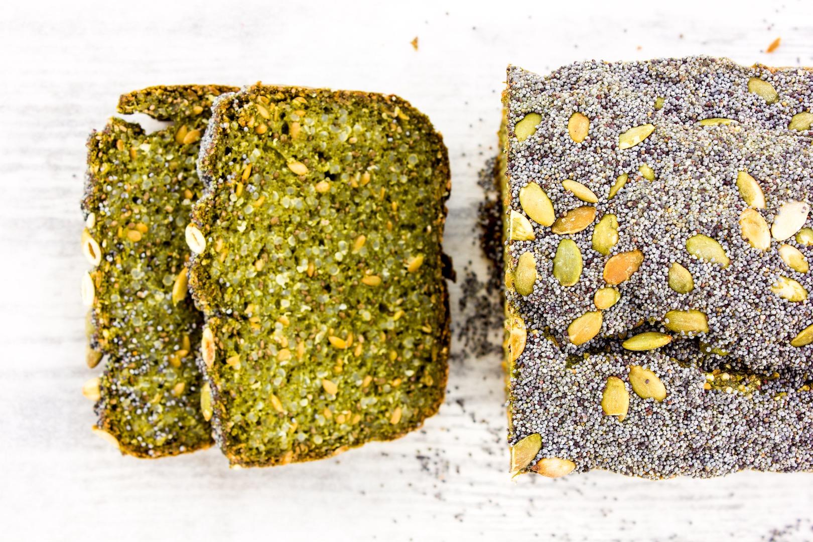 #healthy #quinoa #poppy #chlorella #bread #glutenfree #easy #vegan