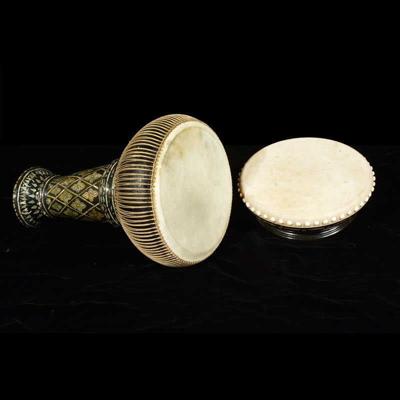 Hand Drums (Rammana and Thon) Gift from King Bhumibol Adulyadej to the Library of Congress, 1960 Thon: 47 x 25.4 cm Courtesy of the Library of Congress; 5137-L 5.00.00, 5137-L 5.00.01