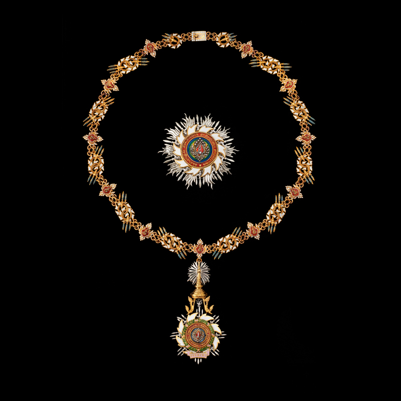 The Most Illustrious Order of the Royal House of Chakri Presented by King Bhumibol Adulyadej to President Dwight D. Eisenhower, 1960
