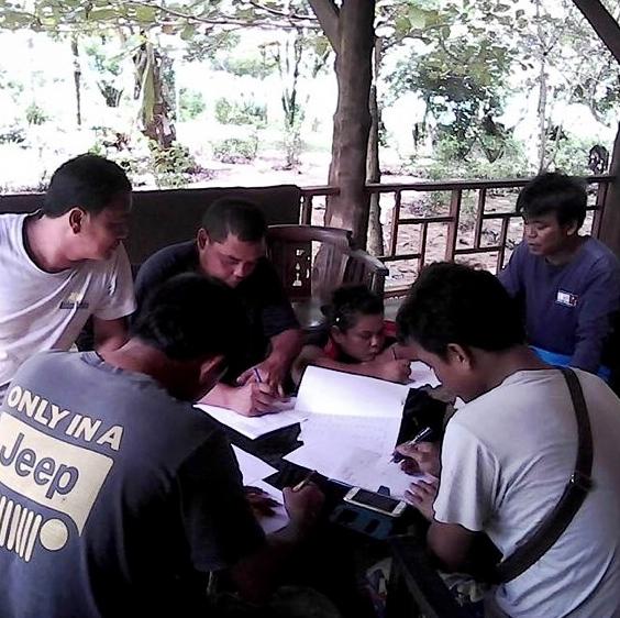 English class in the rainy season