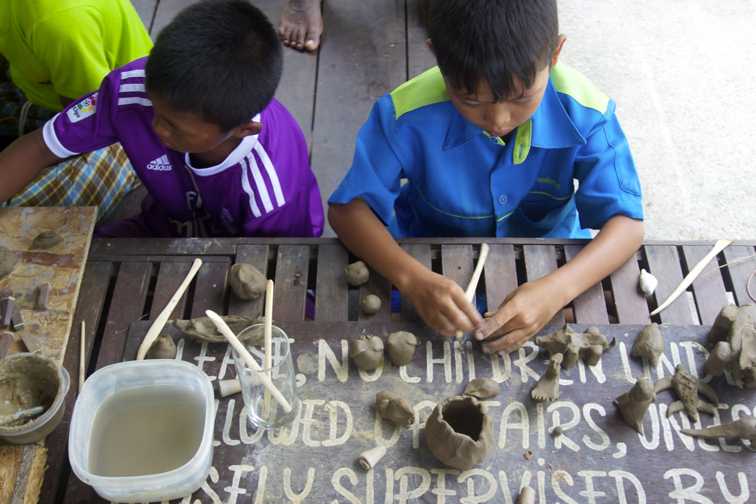 sea children ceramics workshop 2017 - children day
