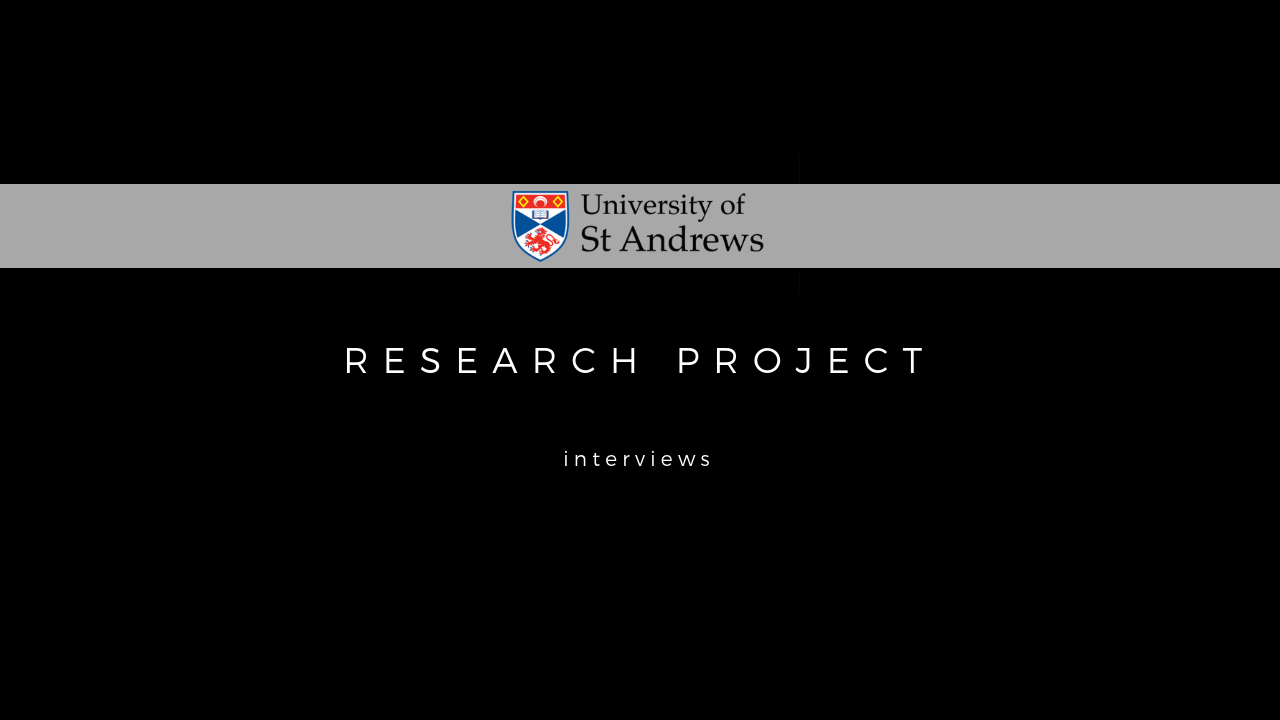 University of St Andrew's Research Project short film