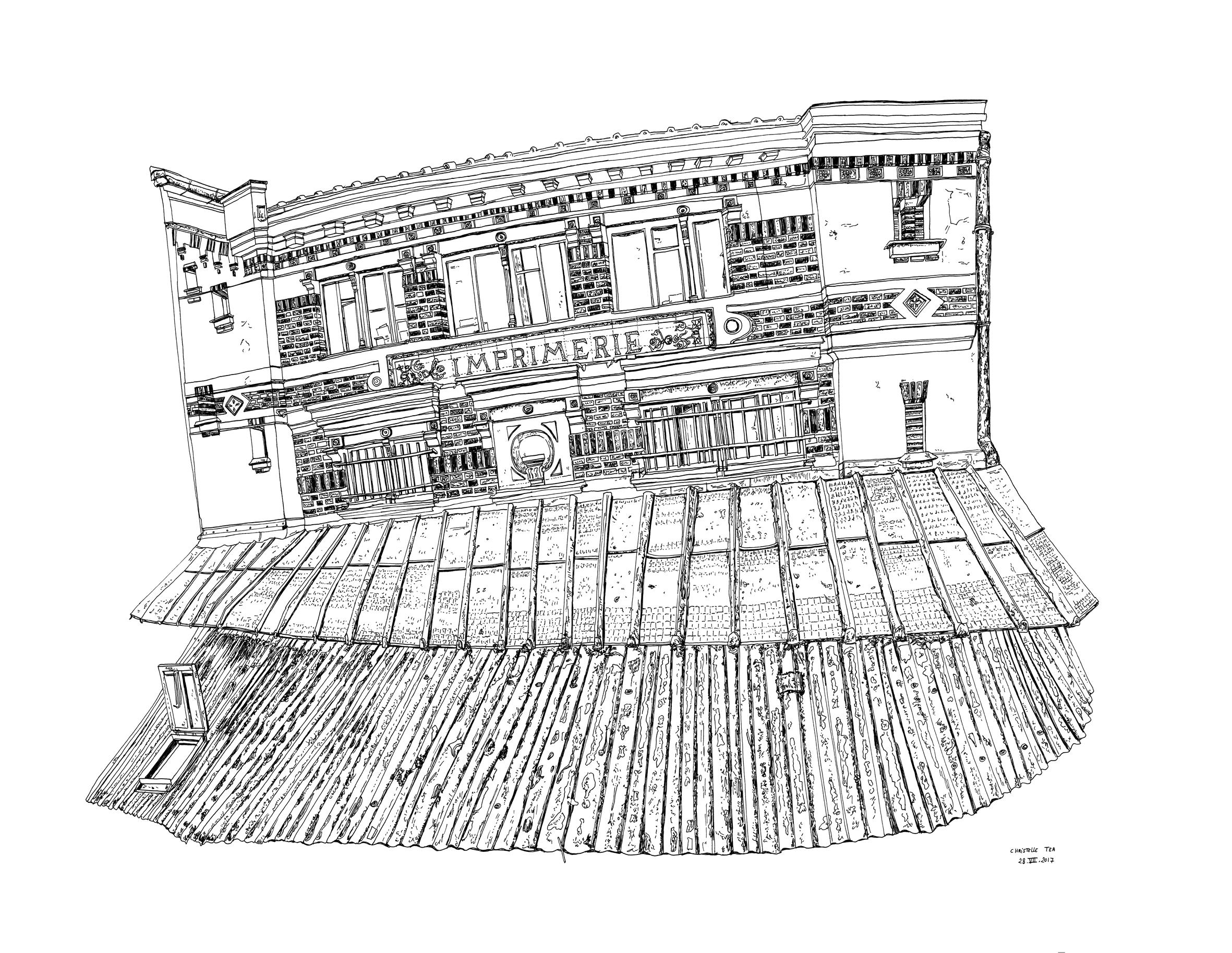 """La galerie Item présente l'exposition """" L'ATELIER À MAIN LEVÉE"""" , dans laquelle l'artiste  Christelle Téa  présente 22 dessins originaux, qui ont pour thème l'atelier Idem Paris.  Parmi ses 22 dessins, 12 ont été sélectionnés et édités en lithographies à 40 exemplaires.  Galerie Item (51 rue du Montparnasse, 75014 Paris, Lundi - Samedi, de 11h à 19h)"""