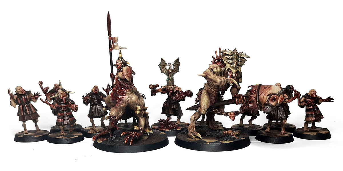 Warhammer Age of Sigmar - Flesh eater Courts warband conversions.