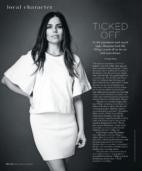 TICKED OFF :ALLY HILFIGERsounds off on her battle with Lyme disease... -