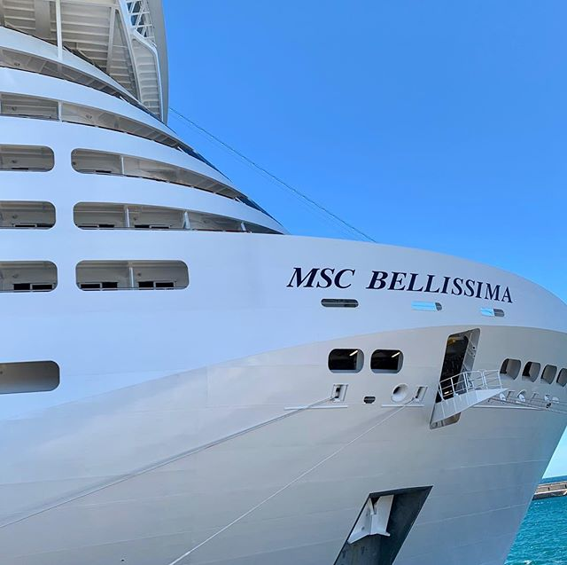 Our balcony cabin at the bow of MSC Bellissima