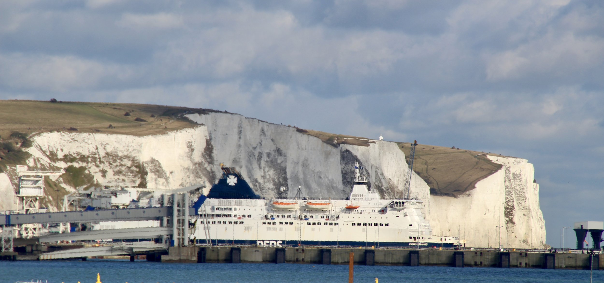 The White Cliffs from the Western Docks, Dover