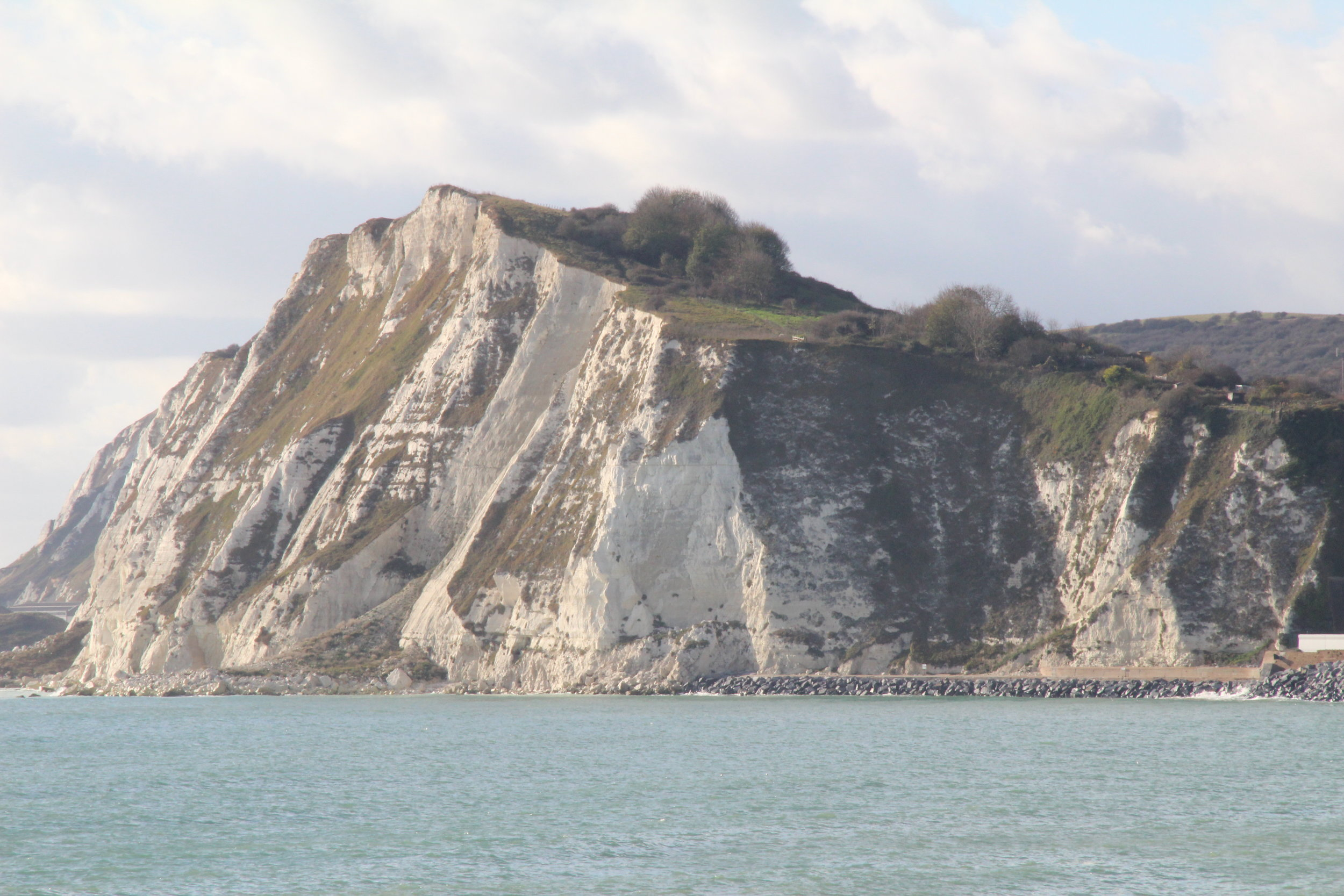 Shakespeares Cliff … a lot of the green is samphire….