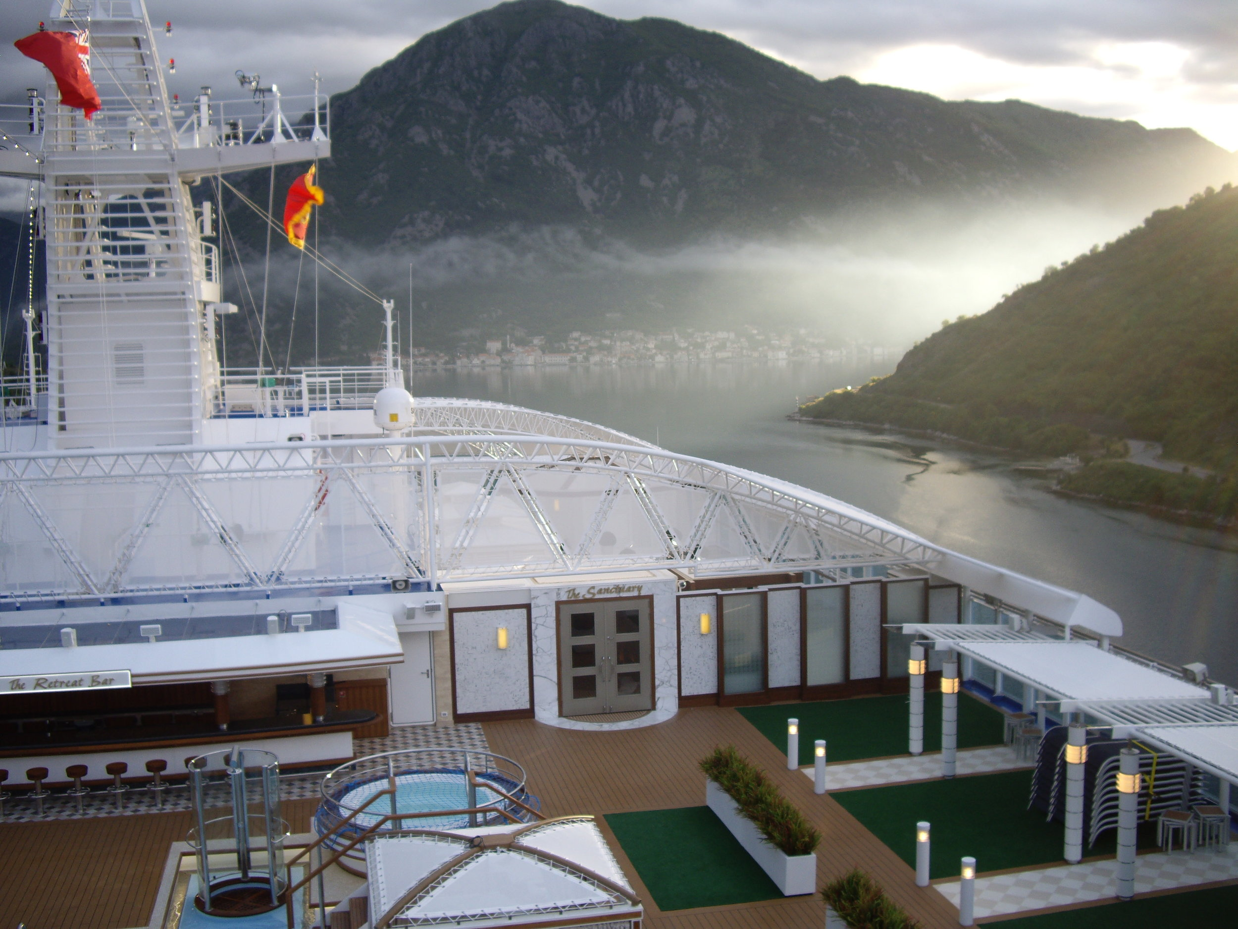 Kotor, Montenegro in the early morning mist - from Regal Princess.
