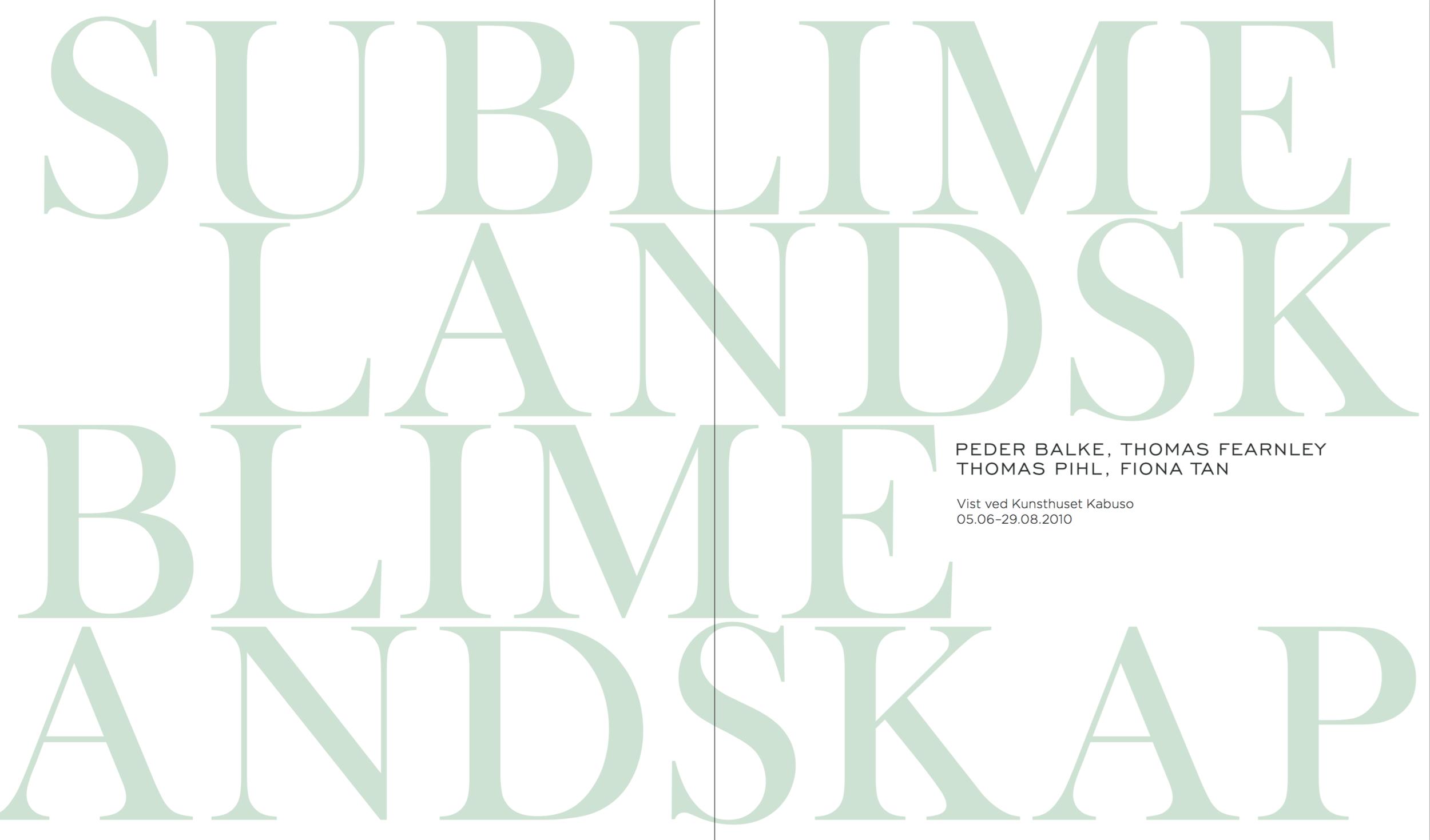 Sublime Landskap  – click on image to read full article