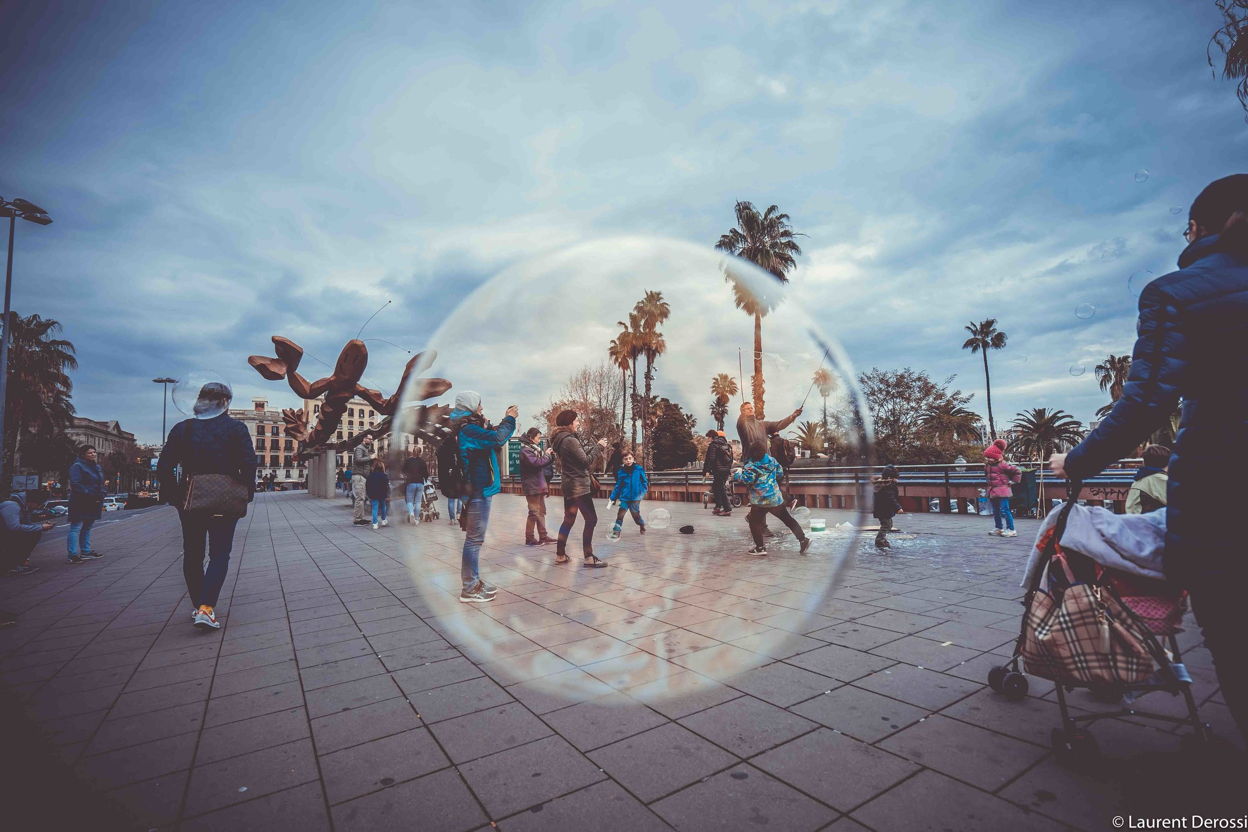 Barcelona bubble game