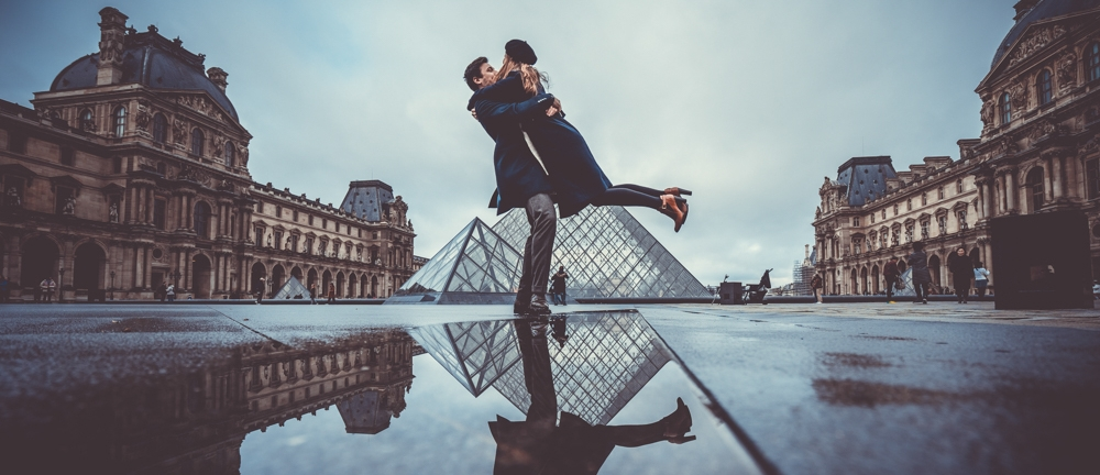 Isaure & Thomas - Shooting at the Louvre