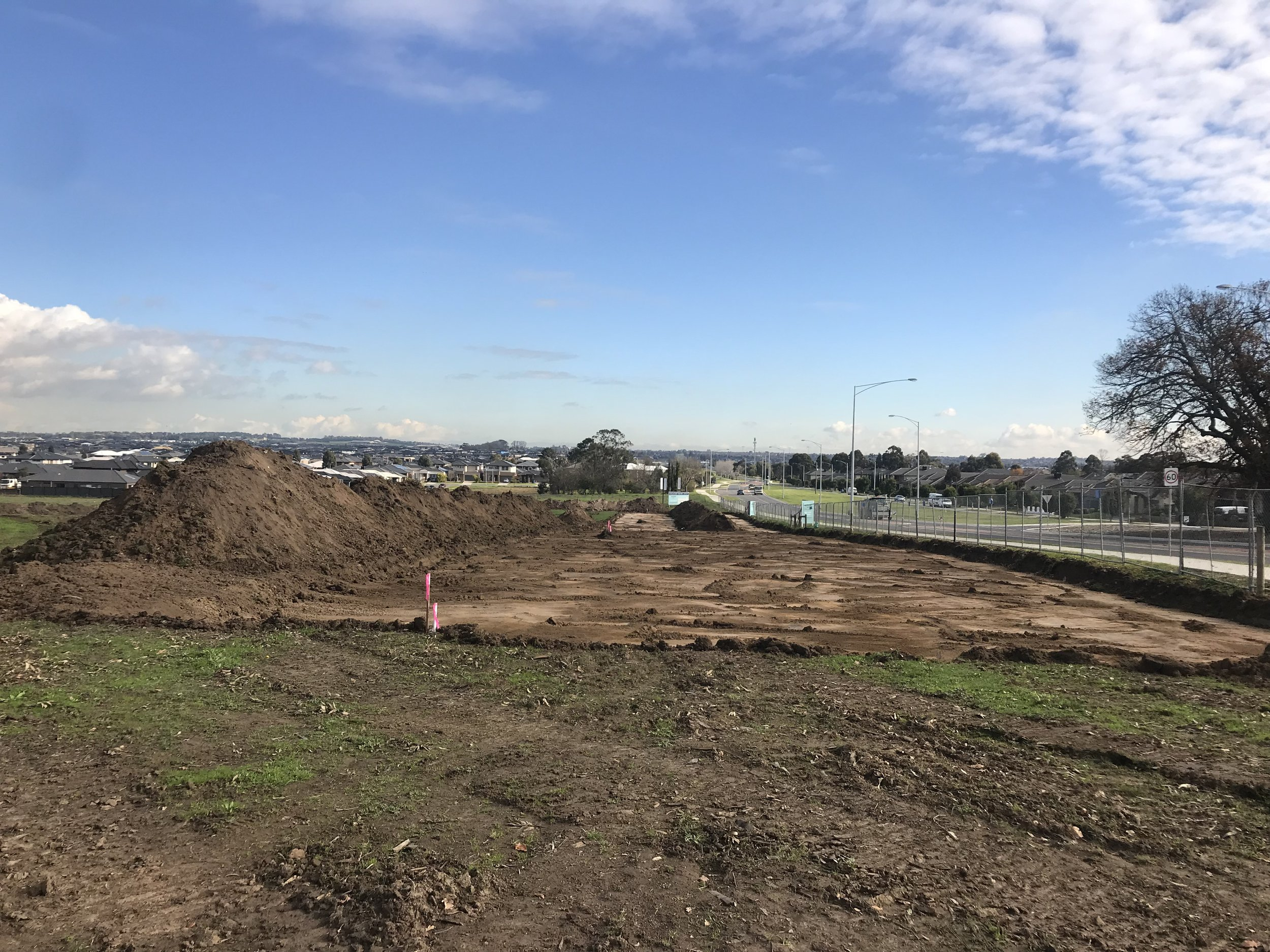 Construction update - 04/06/2018Construction has officially started on the Aspen on Clyde estate. Roads being cut and blocks being pegged, a lot of movement happening.